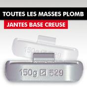 MASSES EQUILIBRAGE PLOMB / JANTES ACIER