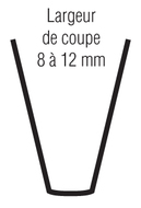LAME DE RESCULPTAGE (COUPE 8/12MM)