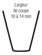 LAME DE RESCULPTAGE (COUPE 10/14MM)